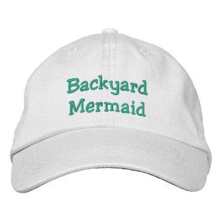 Backyard Mermaid Embroidered Hat