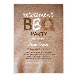Backyard Retirement BBQ Party Card