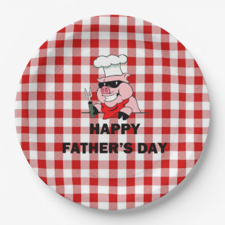 Backyard Shenanigans Father's Day Party Paper Plat Paper Plate