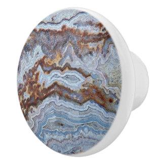 Bacon Agate Pattern Ceramic Knob