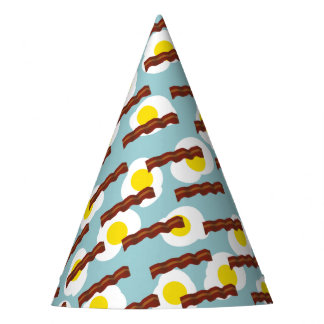 bacon and eggs 2 party hat