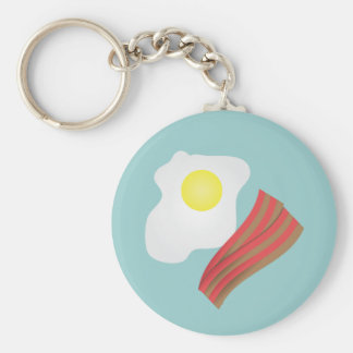 Bacon and Eggs Breakfast Basic Round Button Keychain