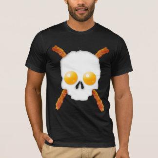 Bacon and Eggs Breakfast Skull T-Shirt