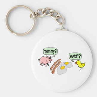 Bacon And Eggs Nightmare Basic Round Button Keychain