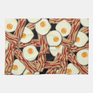 Bacon and Eggs Pattern Kitchen Towel