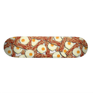 Bacon and Eggs Pattern Custom Skateboard