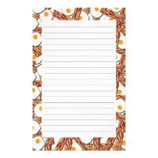 Bacon and Eggs Pattern Stationery