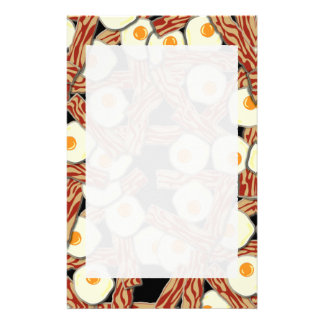 Bacon and Eggs Pattern Customized Stationery