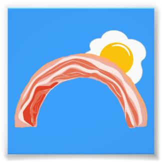 Bacon and Eggs Rainbow Photograph