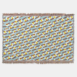 bacon and eggs throw blanket