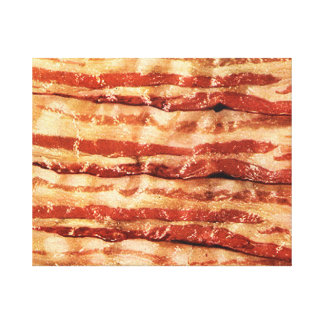 bacon as art wrapped canvas painting