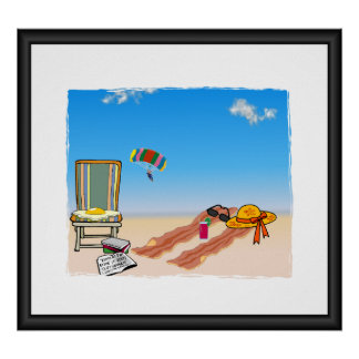 Bacon At The Beach PRINT
