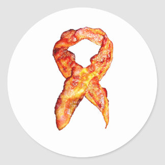 Bacon Awareness Ribbon Round Sticker