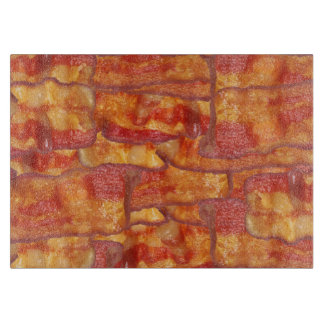 Bacon Background Pattern, Funny Fried Food Cutting Boards