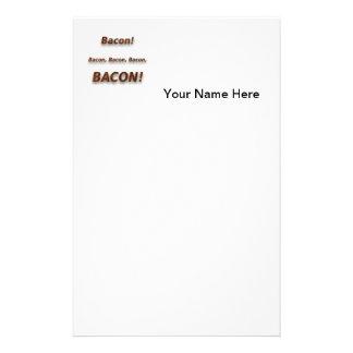 Bacon! Bacon, Bacon, Bacon, BACON!!! Custom Stationery