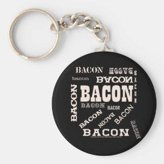 Bacon Bacon Bacon Basic Round Button Keychain
