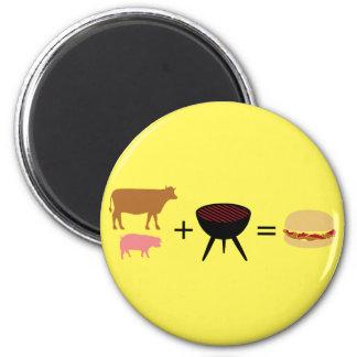 Bacon Burger Recipe Magnet
