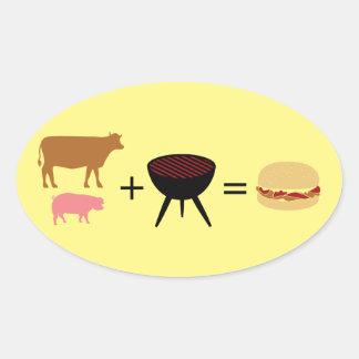 Bacon Burger Recipe Oval Sticker