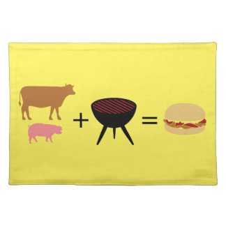 Bacon Burger Recipe Placemat