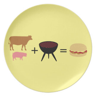 Bacon Burger Recipe Plate