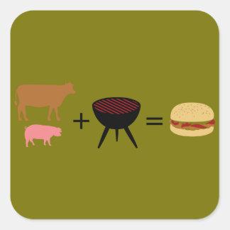 Bacon Burger Recipe Square Sticker