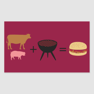 Bacon Burger Recipe Sticker