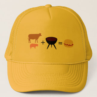 Bacon Burger Recipe Trucker Hat
