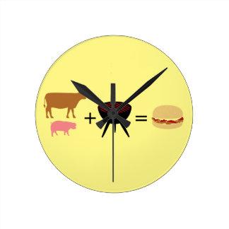Bacon Burger Recipe Wall Clocks