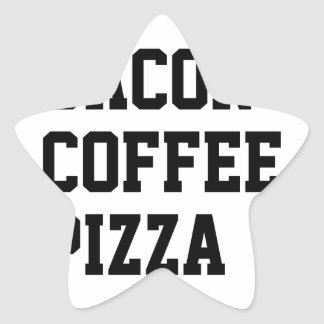 Bacon Coffee Pizza Star Sticker
