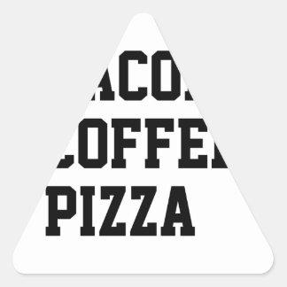 Bacon Coffee Pizza Triangle Sticker