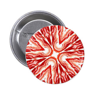 bacon cross 2 inch round button