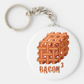 Bacon Cubed Keychain