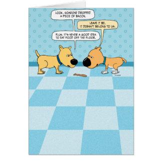 Bacon Dogs Birthday Card