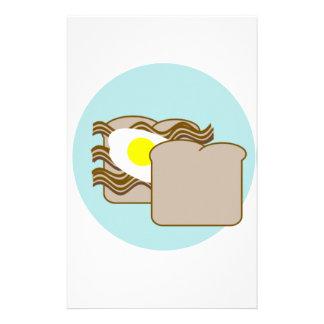 Bacon egg sandwich custom stationery