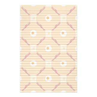Bacon Eggs and Toast Stationery Paper