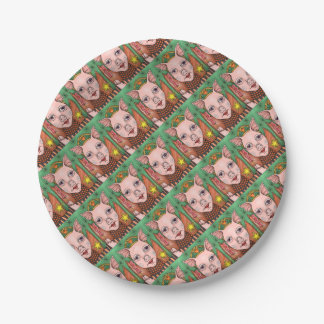 Bacon Fairy Color Paper Plate