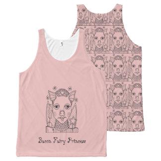 Bacon Fairy Princess Black Line Art Design