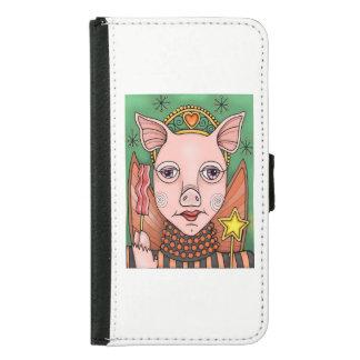 Bacon Fairy Princess Color Design Samsung Galaxy S5 Wallet Case