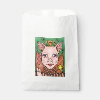 Bacon Fairy Princess Line Art Design Favour Bag