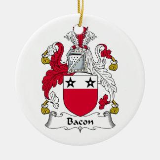 Bacon Family Crest Ceramic Ornament
