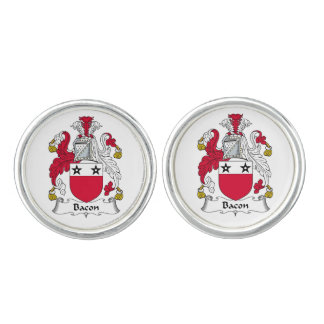 Bacon Family Crest Cuff Links