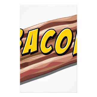Bacon flavour stationery design