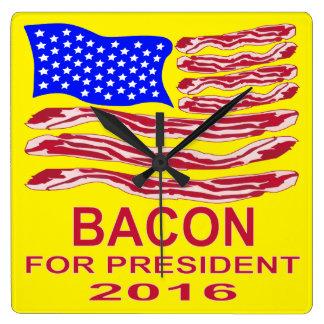 Bacon For President Wallclock