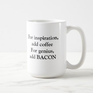 Bacon genius coffee mug