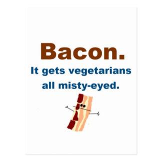 Bacon gets vegetarians misty-eyed postcard