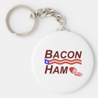 Bacon Ham Campaign Keychain