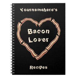 Bacon heart blank recipe journal