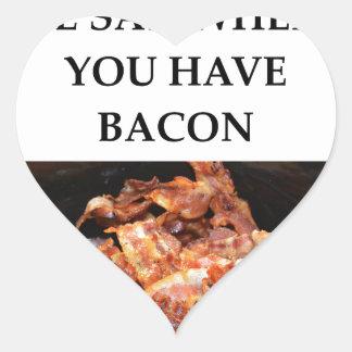 bacon heart sticker