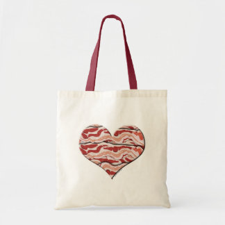 Bacon Hearted Tote Bag