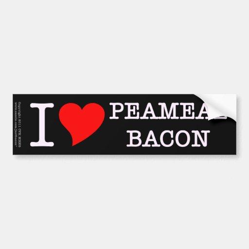 Bacon I Love Peameal Bumper Stickers